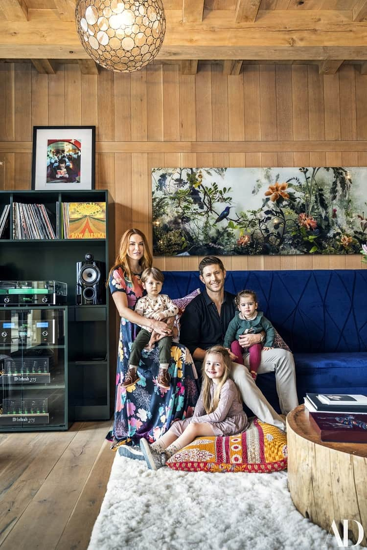 Jensen Ackles and his family at home in Austin, Texas